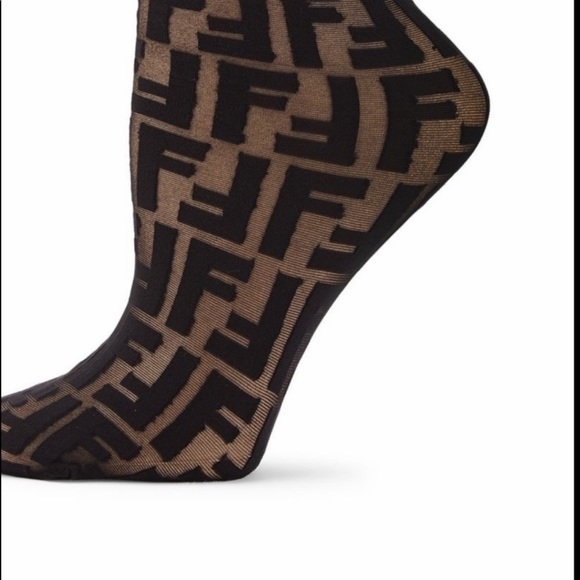 c268554842ebd Fendi Accessories | Logo Crew Socks Os | Poshmark